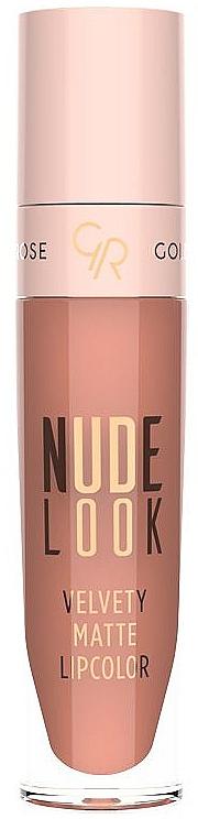 Flüssiger matter Lippenstift - Golden Rose Nude Look Velvety Matte Lipcolor