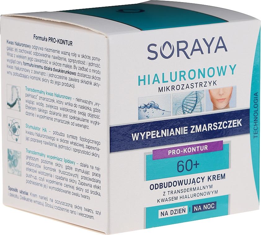 Regenerierende Tages- und Nachtcreme mit transdermaler Hyaluronsäure 60+ - Soraya Hialuronowy Mikrozastrzyk Regenerating Cream 40+