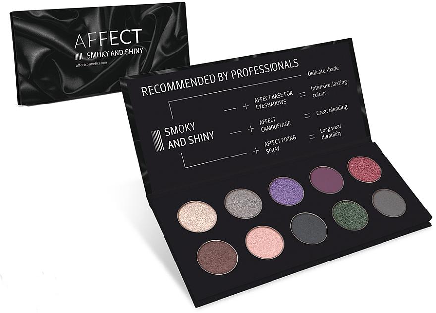 Lidschattenpalette - Affect Cosmetics Smoky And Shiny Eyeshadow Palette