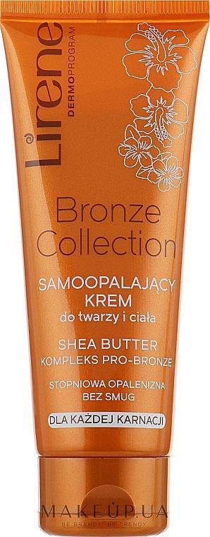 Selbstbräuner-Creme für Körper und Gesicht - Lirene Body Arabica Face & Body Cream
