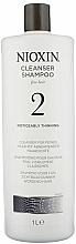 Düfte, Parfümerie und Kosmetik Reinigungsshampoo für feines Haar mit abnehmender Haardichte - Nioxin Thinning Hair System 2 Cleanser Shampoo