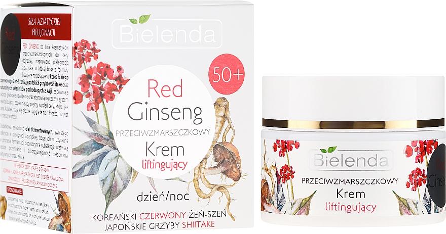 Anti-Falten Liftingcreme für das Gesicht mit rotem Ginseng und Shiitake - Bielenda Red Ginseng Lifting Cream 50+