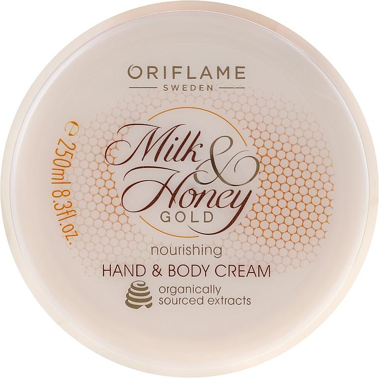 Nährende Hand- und Körpercreme mit Milch und Honig - Oriflame Milk and Honey Gold Nourishing Hand and Body Cream