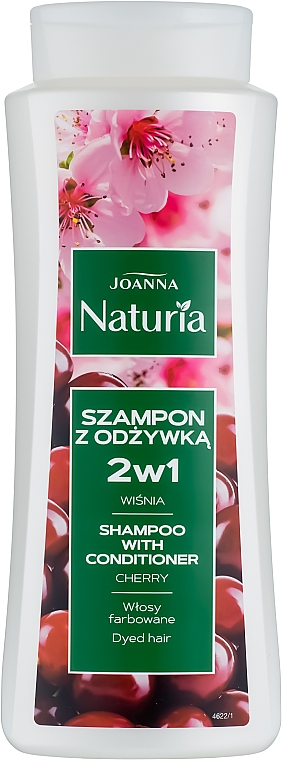 """Shampoo & Conditioner für gefärbtes Haar """"Kirsche"""" - Joanna Naturia Shampoo With Conditioner With Cherry"""