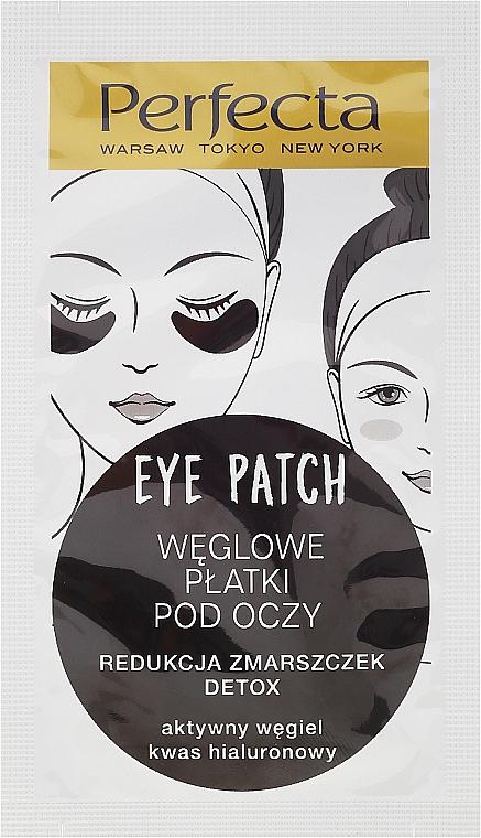 Feuchtigkeitsspendende Detox Augenpads mit Aktivkohle und Hyaloronosäure - Dax Cosmetics Perfecta Eye Patch