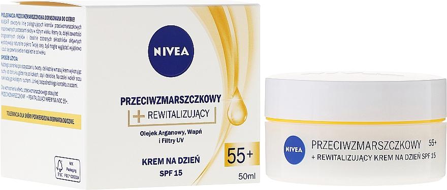 Revitalisierende Anti-Falten-Tagescreme 55+ - Nivea Anti-Wrinkle Revitalizing Day Cream 55+