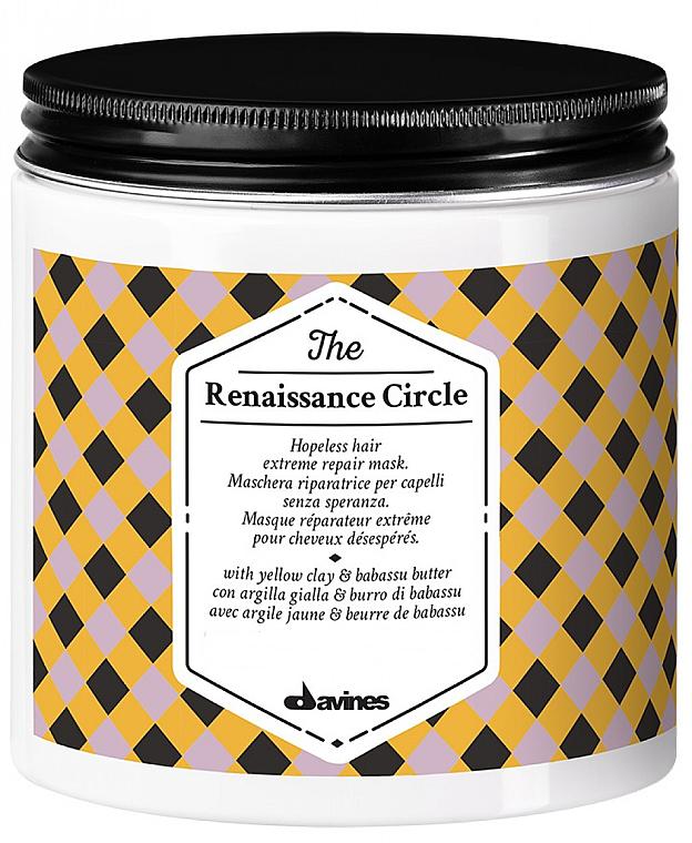 Regenerierende feuchtigkeitsspendende und nährende Haarmaske für stark geschädigtes Haar mit gelbem Ton und Babassubutter - Davines The Renaissance Circle Hair Mask