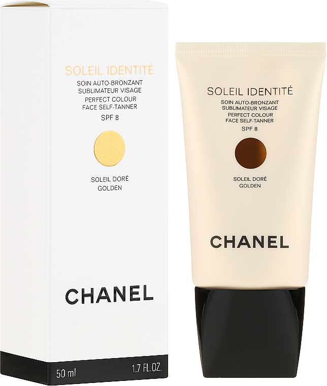 Pflegender Selbstbräuner für das Gesicht SPF 8 - Chanel Soleil Identite SPF 8 Dore Golden