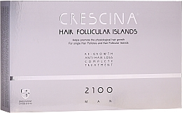 Düfte, Parfümerie und Kosmetik Anti-Haarausfall Ampullen für Männer 2100 - Labo Crescina Hair Follicular Island Re-Growth Anti-Hair Loss Complete Treatment 2100 Man