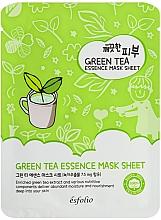 Düfte, Parfümerie und Kosmetik Reinigende Tuchmaske für das Gesicht mit grünem Tee - Esfolio Pure Skin Green Tea Essence Mask Sheet