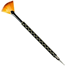 Düfte, Parfümerie und Kosmetik Fächerpinsel zum Nageldesign RN 00487 - Ronney Professional Fan Brush
