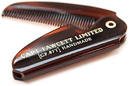 Düfte, Parfümerie und Kosmetik Faltbarer Bartkamm CF87T - Captain Fawcett Folding Pocket Moustache Comb