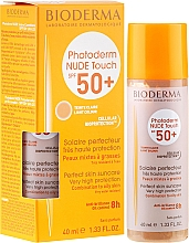 Düfte, Parfümerie und Kosmetik Mineralische Sonnenschutzcreme mit Matt-Effekt, gold getönt - Bioderma Photoderm Nude Touch Golden Color SPF 50+ Teinte Dorée