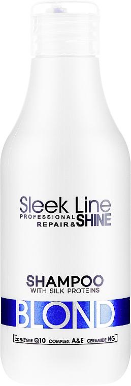 Shampoo mit Seide für blonde und graue Haare - Stapiz Sleek Line Blond Hair Shampoo