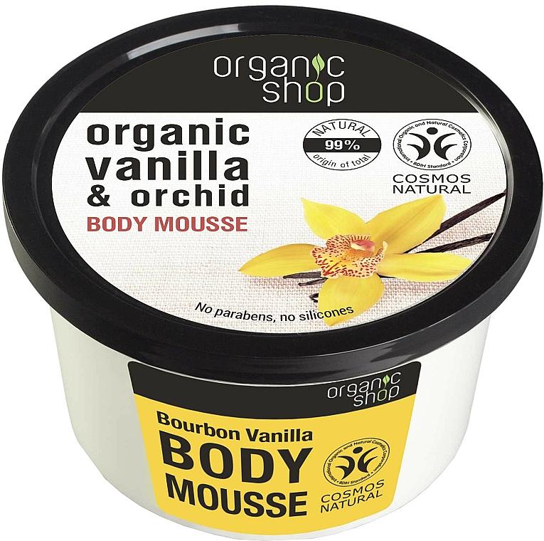 Körpermousse mit Bio Vanille- und Orchideenextrakt - Organic Shop Body Mousse Organic Vanilla & Orchid
