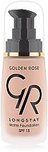 Düfte, Parfümerie und Kosmetik Langanhaltende mattierende Foundation LSF 15 - Golden Rose Longstay Matte Foundation SPF 15
