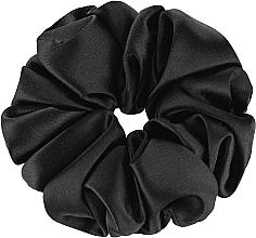 Düfte, Parfümerie und Kosmetik Scrunchie-Haargummi aus Naturseide schwarz Largy - Makeup Largy Scrunchie Black