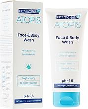 Düfte, Parfümerie und Kosmetik Gesichts- und Körperwaschgel mit Hanfsamenöl und Lakritzextrakt - Novaclear Atopis Face&Body Wash