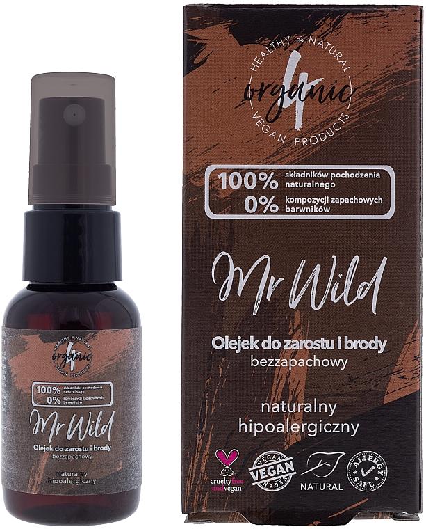 Haar- und Bartöl ohne Geruch - 4Organic Mr Wild
