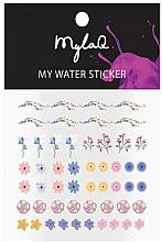 Düfte, Parfümerie und Kosmetik Dekorative Nagelsticker Blumen - MylaQ My My Flower Sticker