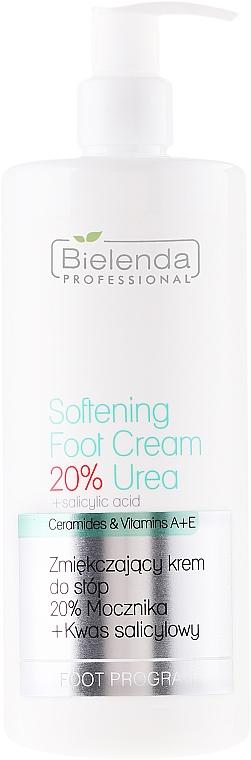 Weichmachende Fußcreme mit Salicylsäure und Vitaminen A und E - Bielenda Professional Podo Expert Program Softening Foot Cream 20% Urea