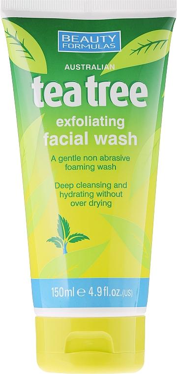 Gesichtspeeling für alle Hauttypen mit Teebaum-Extrakt - Beauty Formulas Tea Tree Exfoliating Facial Wash