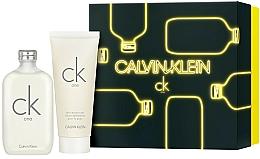Düfte, Parfümerie und Kosmetik Calvin Klein CK One - Duftset (Eau de Toilette 200ml + Körperlotion 200ml)