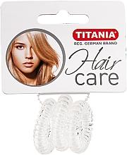 Düfte, Parfümerie und Kosmetik Spiral-Haargummi Anti Ziep transparent 3 St. - Titania