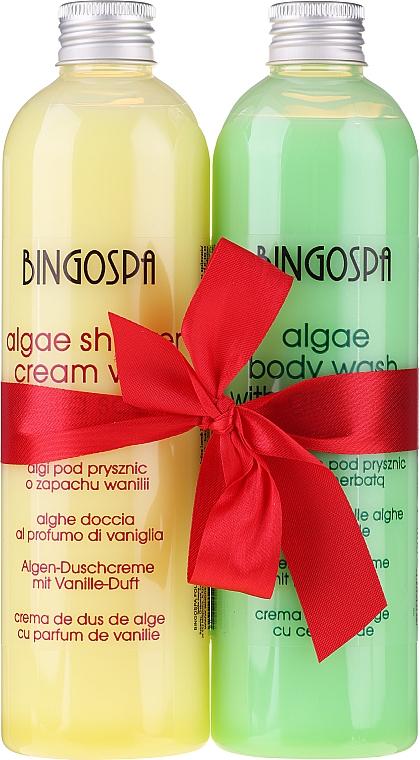 Körperpflegeset - BingoSpa (Algen-Duschcreme mit Vanille-Duft 300ml + Algen-Duschcreme mit grünem Tee 300ml)