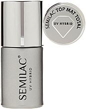 Düfte, Parfümerie und Kosmetik UV Nagelüberlack mit Matt-Effekt - Semilac UV Hybrid Top Mat Total
