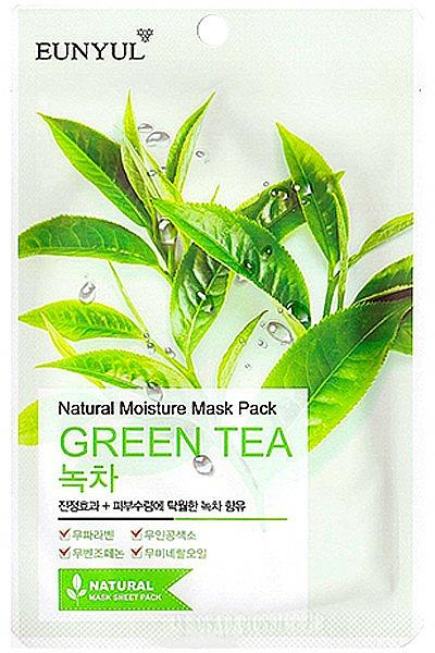 Feuchtigkeitsspendende Tuchmaske für das Gesicht mit Grüntee-Extrakt - Eunyul Natural Moisture Mask Pack Green Tea
