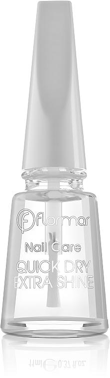 Schnelltrocknender Nagellack mit Glanz-Effekt - Flormar Nail Care Quick Dry Extra Shine