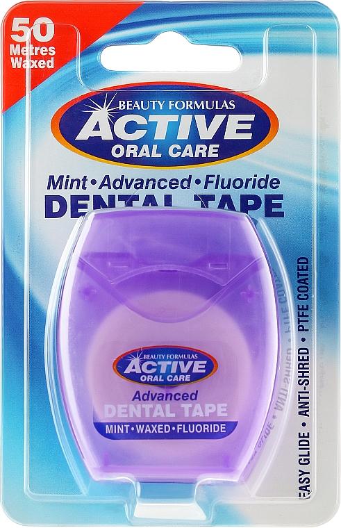 Gewachste Zahnseide mit Minzgeschmack und Fluorid 50 m - Beauty Formulas Active Oral Care Advanced Mint Waxed Fluor 50 m