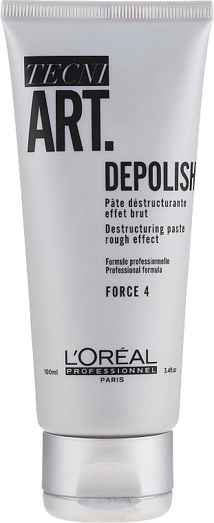 Destrukturierende Haarpaste mit starkem Halt - L'Oréal Professionnel Tecni.art Depolish Force 4 — Bild N1