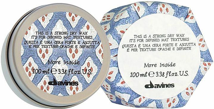 Mattes Trockenwachs für extra starken Halt - Davines More Inside Strong Dry Wax — Bild N1