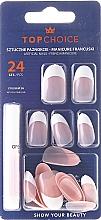 Düfte, Parfümerie und Kosmetik Künstliche Fingernägel inkl. Kleber French 74165 - Top Choice