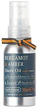 Düfte, Parfümerie und Kosmetik Bath House Bergamot & Amber - Rasieröl Bergamotte & Bernstein