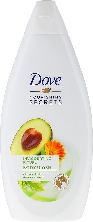 Duschgel mit Avocadoöl und Ringelblumenextrakt - Dove Nourishing Secrets Invigorating Shower Gel