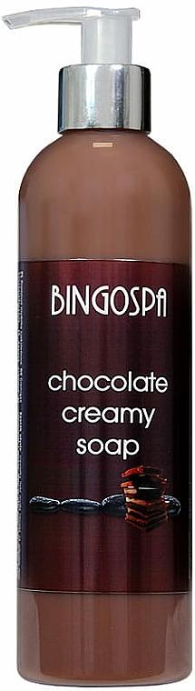 Verjüngende Cremeseife mit Schokolade - BingoSpa Rejuvenating Cream Soap Dark Chocolate
