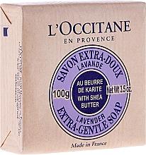 Kosmetikseife mit Sheabutter und Lavendel - L'occitane Shea Butter Extra Gentle Soap-Lavender — Bild N1