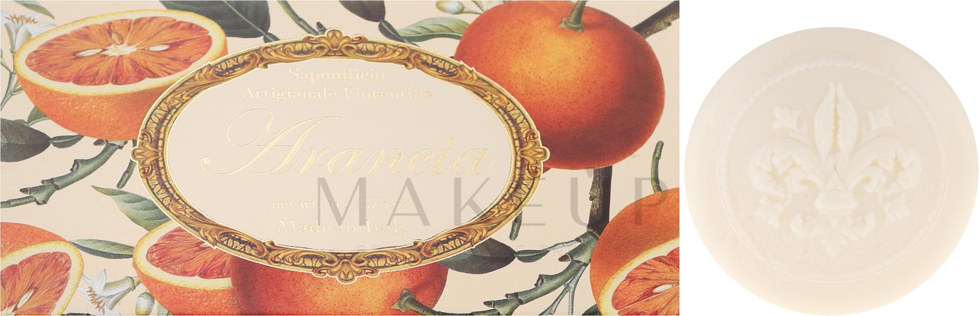 Naturseifen Geschenkset 6 St. - Saponificio Artigianale Fiorentino Orange (6x50g) — Bild 6 x 50 g