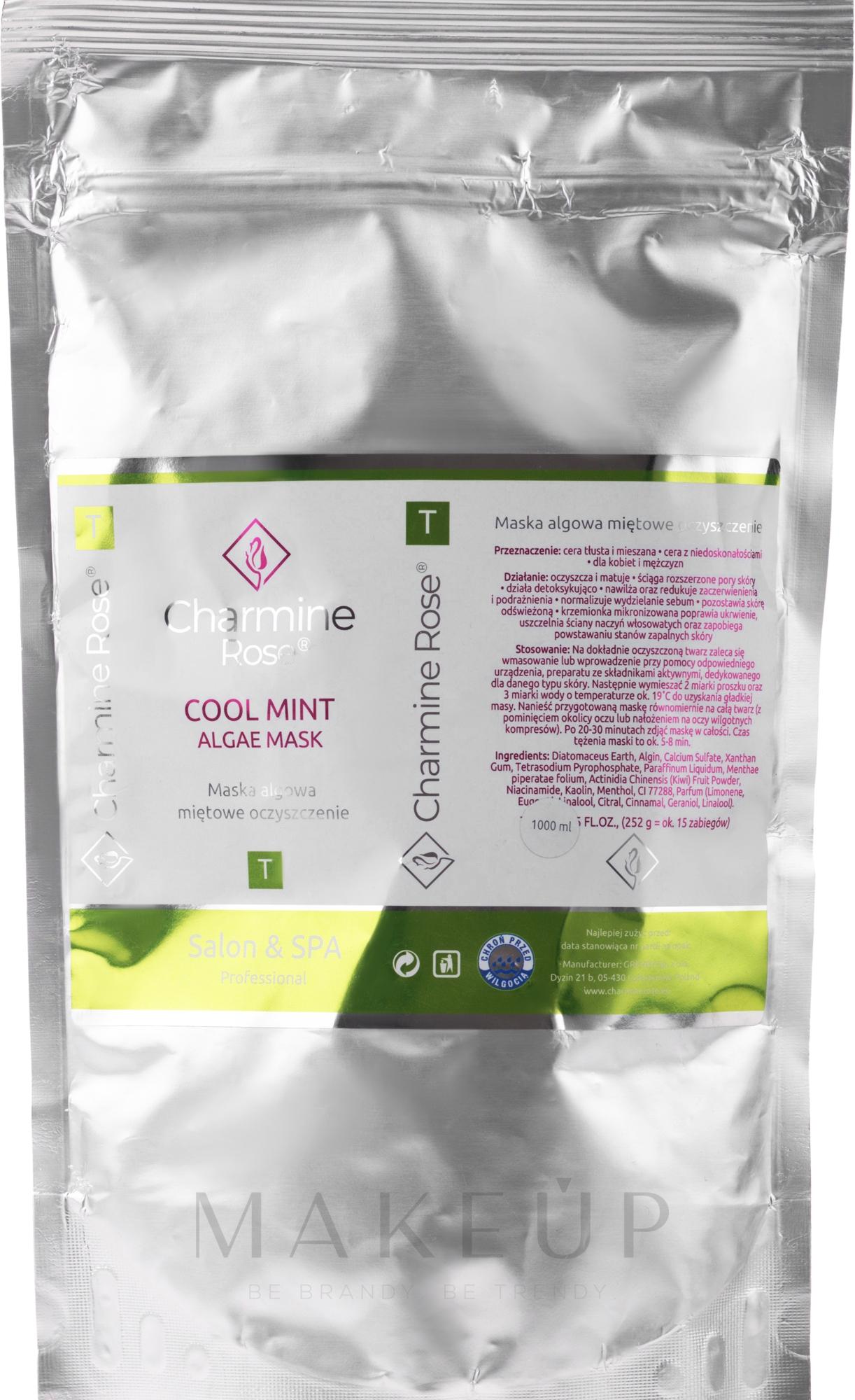 Alginat-Gesichtsmaske mit Minze - Charmine Rose Cool Mint Algae Mask Refill — Bild 252 g