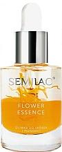Düfte, Parfümerie und Kosmetik Nagel- und Nagelhautschutzöl mit Pfirsichkernöl - Semilac Flower Essence Orange Strength