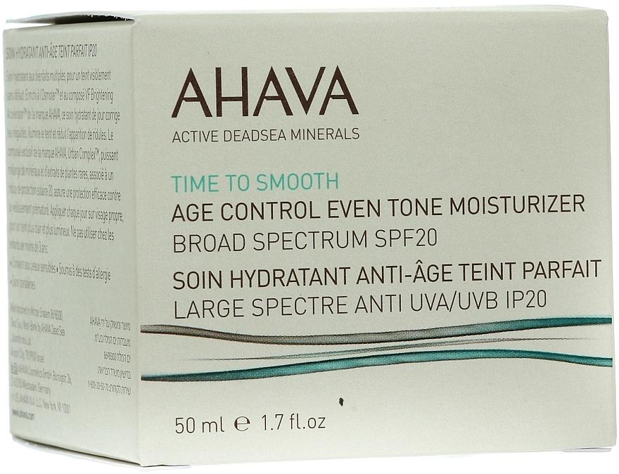 Feuchtigkeitsspendende und ausgleichende Anti-Aging Gesichtscreme SPF 20 - Ahava Age Control Even Tone Moisturizer Broad