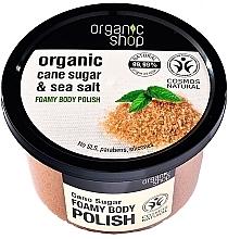 Düfte, Parfümerie und Kosmetik Körperpeeling mit Bio braunem Zucker und Meersalz - Organic Shop Foamy Body Scrub Organic Cane Sugar & Sea Salt