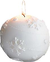 Düfte, Parfümerie und Kosmetik Dekorative Kerze in Kugelform weiß 10 cm - Artman Snowflake Application