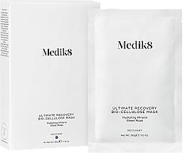 Düfte, Parfümerie und Kosmetik Beruhigende, nährende und feuchtigkeitsspendende Tuchmaske mit Mineralien und Hyaluronsäure - Medik8 Ultimate Recovery Bio-Cellulose Mask