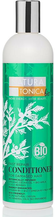 Haarspülung mit Bio-Zedernöl, Bio-Amla-Extrakt und Goji-Beeren für geschädigtes Haar - Natura Estonica Fast Repair Conditioner — Bild N1