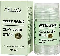 Düfte, Parfümerie und Kosmetik Reinigende und entgiftende Gesichtsmaske in Stick Grüne Bohnen - Melao Green Beans Clay Mask Stick