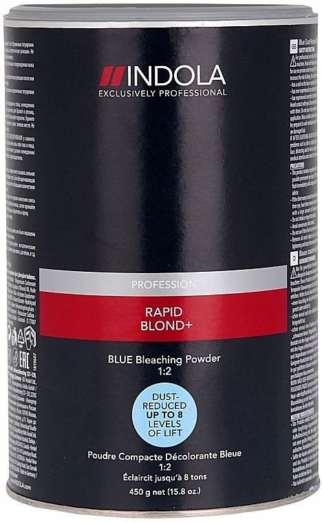 Aufhellungspulver blau  - Indola Profession Rapid Blond+ Blue Dust-Free Powder